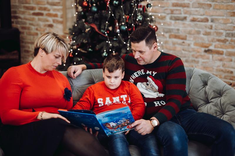 Karácsonyi család fotózás