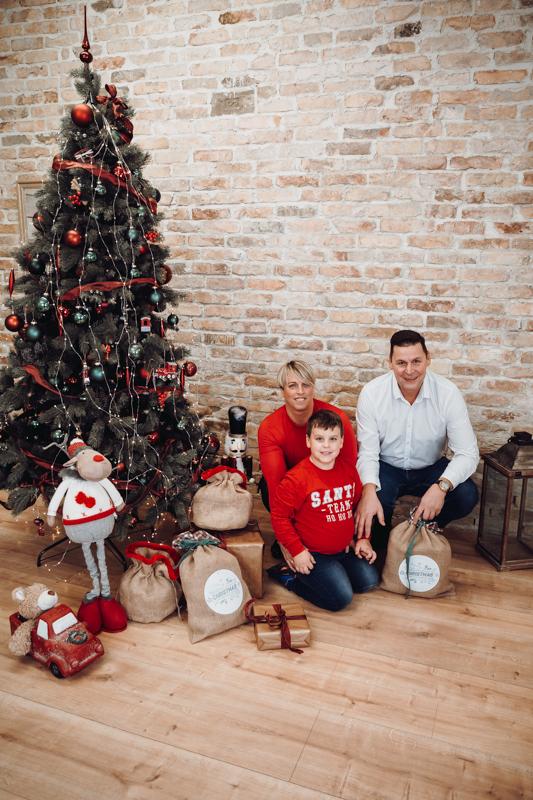Karácsonyi családi fotózás
