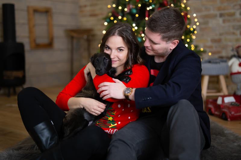 Karácsonyi pár fotózás