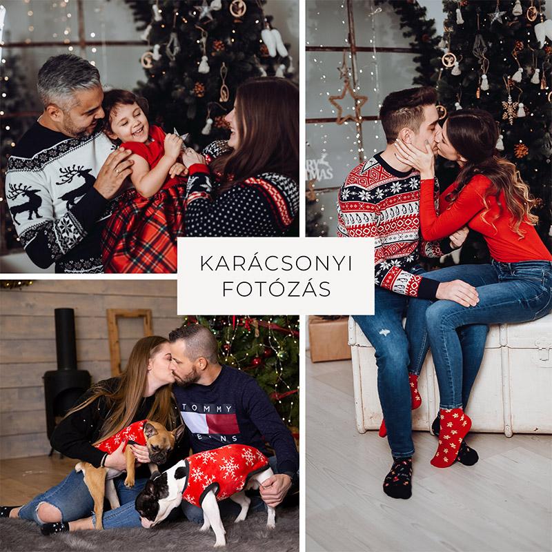 Karácsonyi páros fotózás